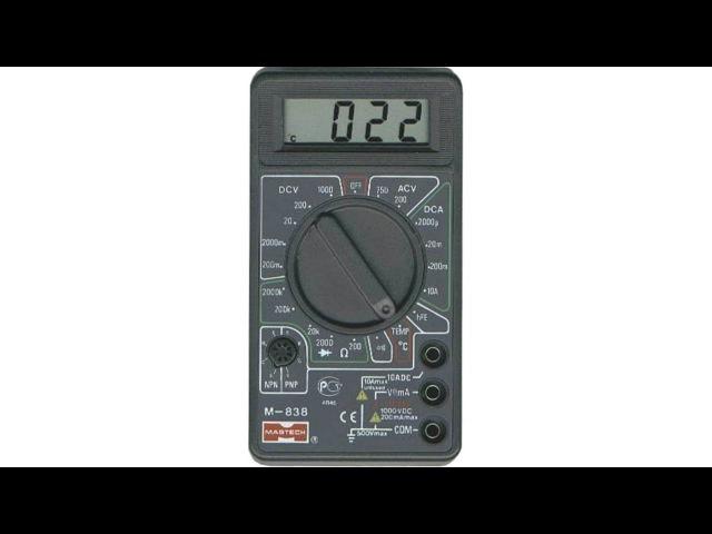 Как пользоваться мультиметром M838 или DT838
