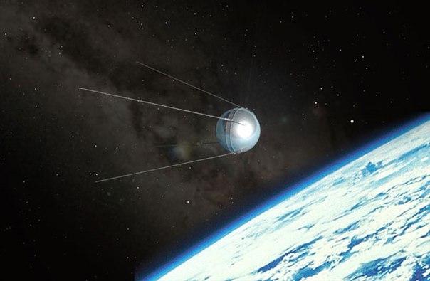 фото космического спутника.