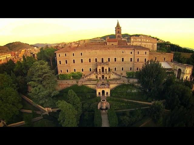 Villa DEste a Tivoli ripresa con un drone