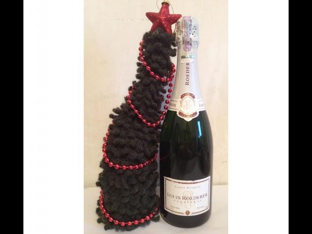 ЁЛКА на бутылку Ч- 1 CHRISTMAS TREE on the bottle crocheting P- 1