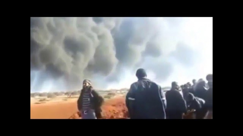 Russian Aerospace Forces destroyed terrorist oil and fuel black market in Maʿarrat , Idleb .
