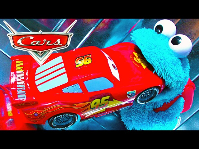 Cars 2 Lightning McQueen Vs Cookie Monster Vs Knock Off Smashing Toy Review Unboxing