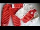 Кофточка для мальчика Вяжем спинку Blouse for boy Knit spine