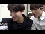 BANGTAN BOMB Playing the rhythm game (..and V's making a song )