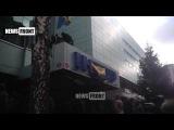 Здание телеканала «Интер» заблокировано представителями полка «Азов»