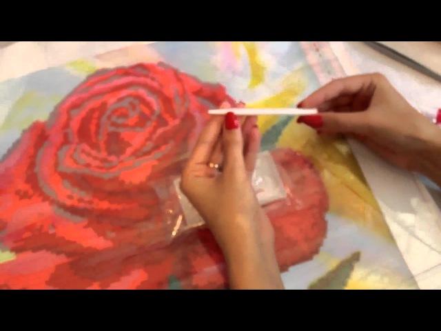 Алмазная вышивка - обучающий урок 2 / The tutorial on diamond painting 2th.