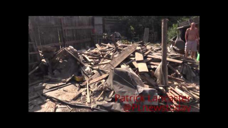 (RUS СУБ) Донецк репортаж Кировский р-н Разрушения украинская армии обстреляла 4 жилых дома