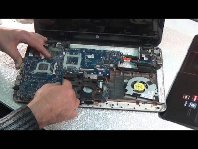 Разборка и чистка ноутбука HP Pavilion m6