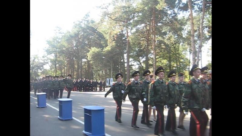 Прохождение торжественным маршем ГГКУ.