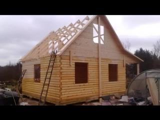 Строим дом из бруса 6 x 8 с мансардой