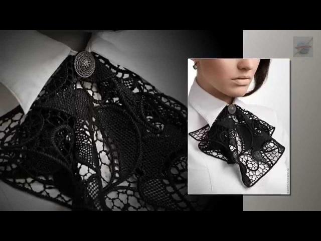 Румынское кружево. Жабо. Romanian Lace. Crochet Jabot.