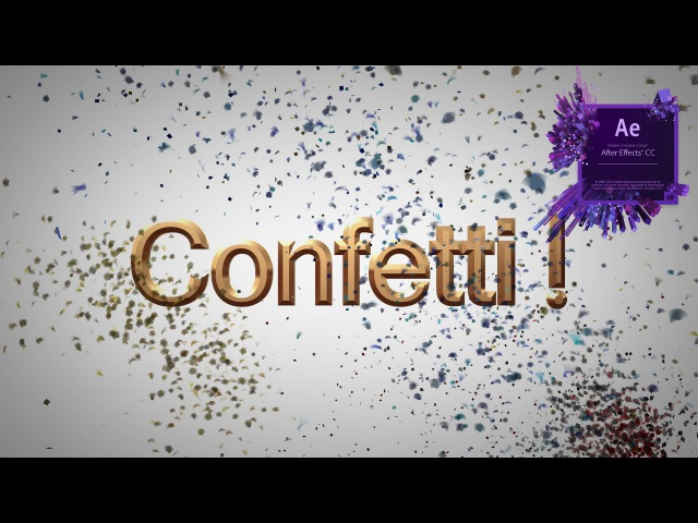How To Make Confetti In After Effects Tutorial (Trapcode Particular)