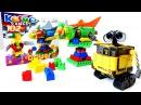 Видео для детей: Робот ВАЛЛИ и Космический Корабль из конструктора! Роботы Игрушки! Wall E