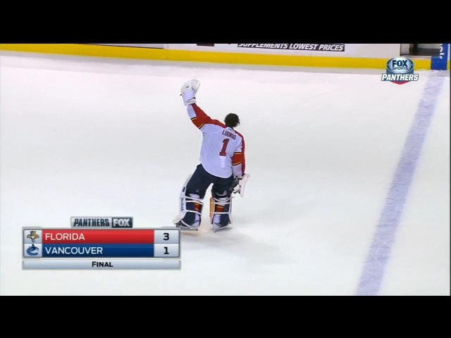 Roberto Luongo Named The 1 Star, Gets A Standing Ovation. January 8th 2015. (HD)