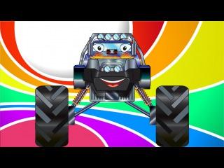 ✔ Carros Para Niños. Un Camion Monstruo, Coche de Carreras, Camión de bomberos. Tiki Taki Camiones