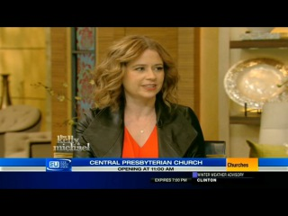 Jenna Fischer on Live! with Kelly and Michael