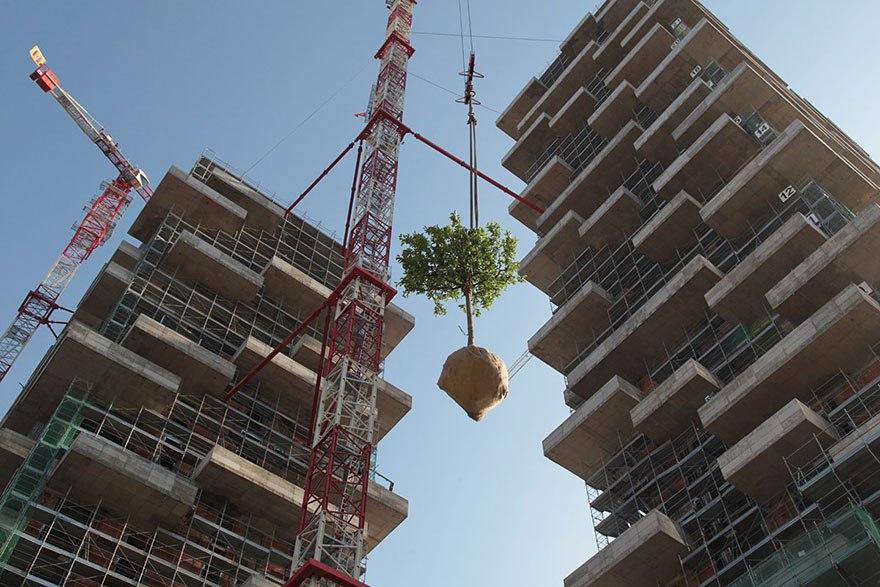 WPVa8YJFLcs - 117-ти метровый небоскреб полностью покрытый зеленью.