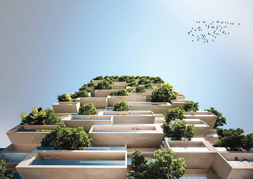 Cux7wvHT304 - 117-ти метровый небоскреб полностью покрытый зеленью.