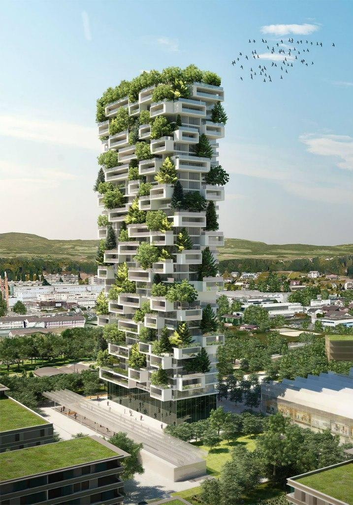 v5Fg Qq2lcM - 117-ти метровый небоскреб полностью покрытый зеленью.