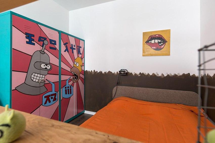 Неформальный интерьер студии 43 м в Санкт-Петербурге.