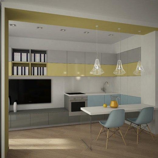 Проект квартиры с откидной кроватью без точного метража.