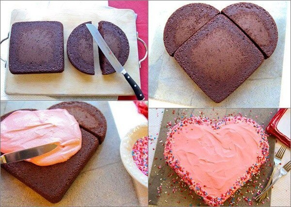 Торт в форме сердце своими руками