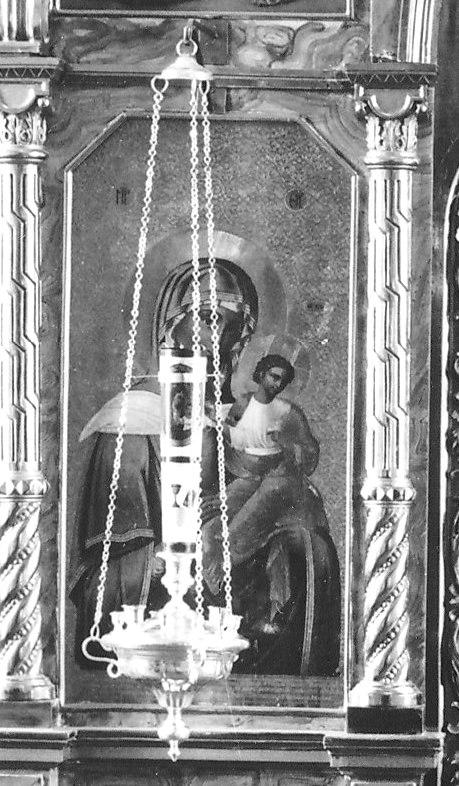 Увеличенный фрагмент иконостаса Коневского скита. Конец 19 века