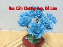 Cách làm hoa cẩm chướng bằng giấy nhún|| cách làm hoa giấy ngoctrucchannel