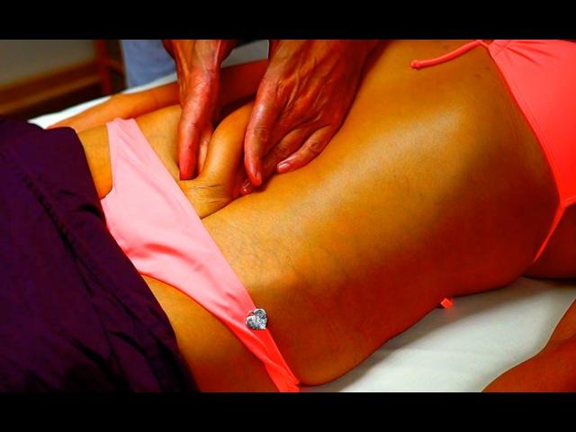 Anti Cellulite Massage on Belly Slagging Skin, Whispering asmr.