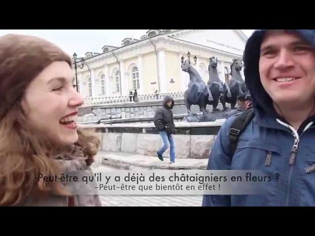 Micro-trottoir de l'amitié franco-russe - au jardin Alexandre, à Moscou