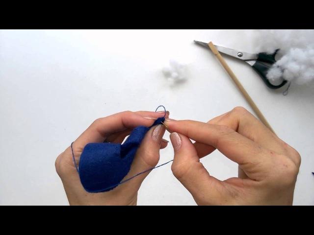 Виды швов для соединения деталей из фетра. Анастасия Канаева