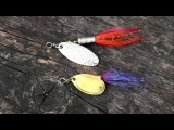 Bright vs dark Testing fishing lures spinners for trout &amp perch. Рыбалка форель блесна вертушка.