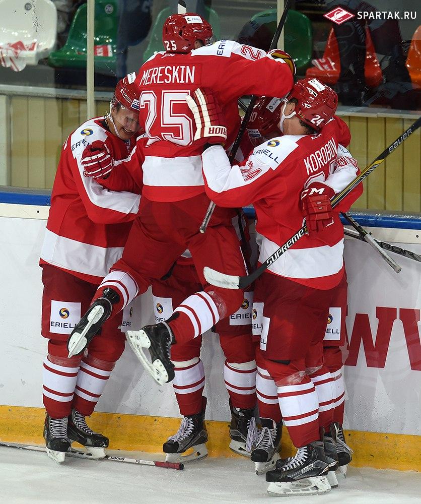«Спартак» в овертайме одержал волевую победу над минским «Динамо» (Видео)