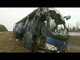 Жертвами катастрофы рейсового автобуса в Воронежской области стали четыре человека - Первый канал