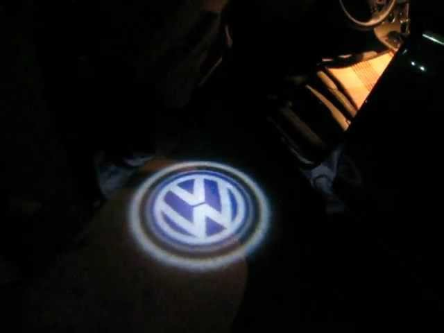 LED Door Courtesy Light with AudiVolkswagenBMW Logo