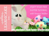 заяц   How to make a Fun Fondant Easter Egg Bunny