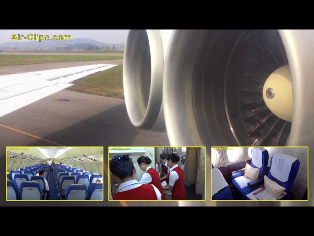Air Koryo Ilyushin Il-62M FULL FLIGHT HD with all cabin and galley views! By [AirClips]