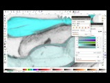 Процесс векторизации рисунка. White walker and Sam.
