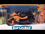 ✔ BRUDER машинка. Видео для детей. Игорек распаковывает новую игрушку Снегоход. Игры для мальчиков