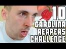 Eating 10 Carolina Reapers Challenge (Worlds Hottest Pepper) | WheresMyChallenge