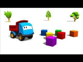 Los colores en español para niños - Leo la Troca Curiosa - Carros para niños