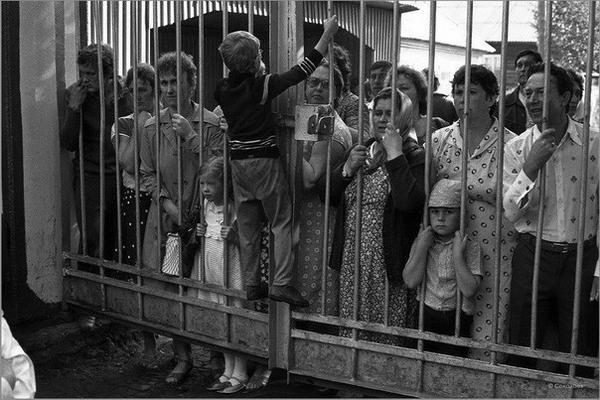 Родительский день в пионерском лагере. СССР. 80-е