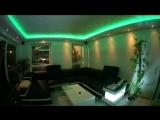 Подсветка потолка с изменением цвета в такт музыки