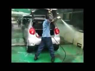 Нереальная автомойка мойка авто помыть автомобиль как мыть машину автомойщик.