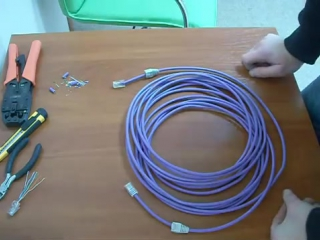 Как обжать витую пару. RJ-45 по типу TIA-568B. Прокладка кабеля без короба