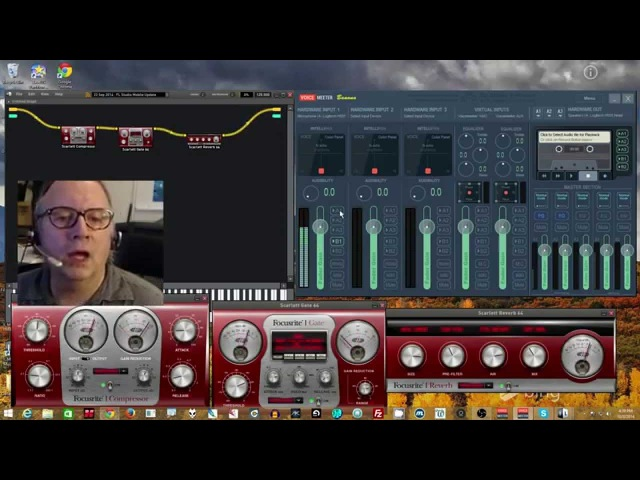 Voicemeeter Pro Inserts used with MiniHost Modular VST Host