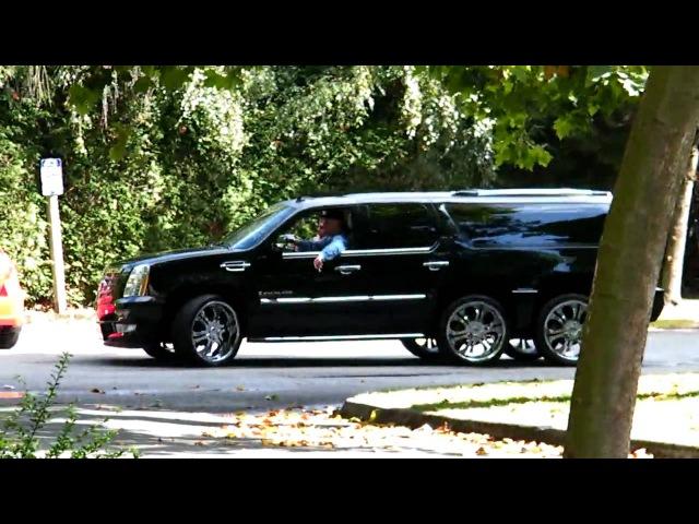 2010 Cadillac Escalade 6x6 six dubs HD