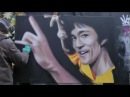Bruce Lee Freehand HD Graffiti Portrait by Akse P19 Crew Time Lapse 2012