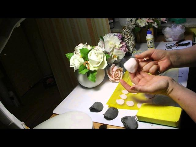 Роза Холодный фарфор часть 1. Mастер Класс от Риты.Rose Cold porcelain part 1. MK from Rita