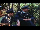 Ace German Air Force Stuka dive bomber pilot Hans-Ulrich Rudel in a garden with Stock Footage